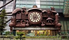 The Giant Ghibli Clock   Tokyo's only Vaudeville-cuckoo clock–steampunk-Victorian curio cabinet time piece.  Japan Tokyo  Access Our Blog find much more Information  http://storelatina.com/japan/travelling  #Nyiv #Iapan #vacation #japão