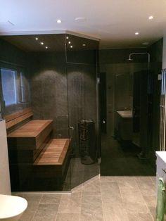 Home Spa Room, Spa Rooms, Modern Bathroom Design, Bathroom Interior, Modern Saunas, Sauna Design, Mini Spa, Laundry In Bathroom, Master Bath