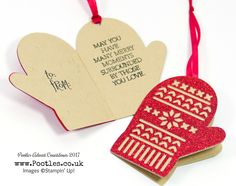 Pootles Advent Countdown 2017 #10 Smitten Mitten Hinged Glimmer Gift Tags, Click through for more details and video tutorial