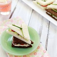 Cucumber Sandwich Recipe for Baby Shower via @goodlifeeats