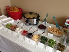 Taco Bar/Buffet  Pin by Courtney Stephens on Party Ideas | Pinterest