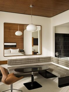 A Tour of the Standard Hotel in New York Manhattan, Interior Architecture, Interior Design, Luxury Interior, Nyc Hotels, Booth Seating, High Line, New York, Commercial Interiors