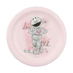 Elmo Bu0026W Sketch Drawing Paper Plate  sc 1 st  Pinterest & Elmo Face Art Paper Plate | Party Paper Plates | Pinterest | Elmo