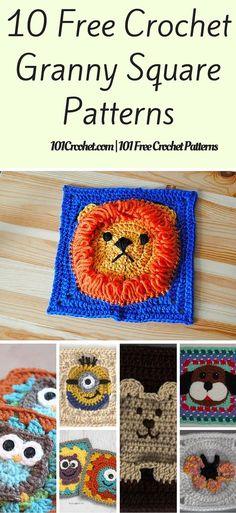 10 Free Crochet Granny Square Patterns | 101 Crochet