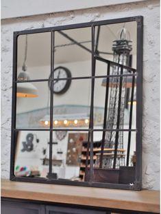 Miroir industriel riveté 120x120 - #120x120 #industriel #miroir #riveté