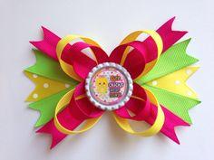 Cute chicks wear bows hair bow  on Etsy, $2.50