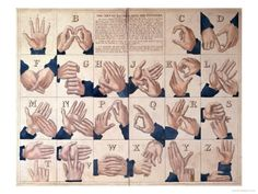 The Art of Talking with the Fingers', Sign Language Alphabet Giclée-Druck bei AllPosters.de