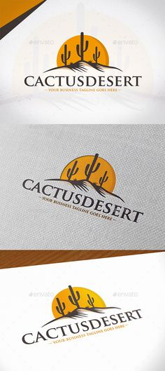 Cactus Desert Logo Design — Photoshop PSD #kactus #plant • Download ➝ https://graphicriver.net/item/cactus-desert-logo-design/19992768?ref=pxcr