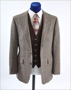 men's vintage tweed coats  | Men's Vintage Harris Tweed Sport Coat Jacket 41-42 from mairemcleod on ...