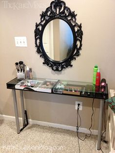 Ikea Makeup Vanity - Definitely just bought the parts to make this... have to drive to nashville, though.