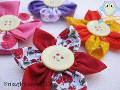 Flores de tecido alegres para decorar a sua cozinha • Drika Artesanato - O seu Blog de Artesanato!