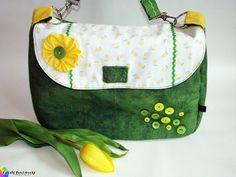 """Hey, ich bin die Handtasche """"Springbreak"""" - ein Einzelstück, ein Unikat *exklusiv gefertigt für die DaWanda Farbaktion April 2013* mit dem klangvol..."""
