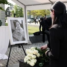 Memorial tribute to murdered Chinese student Yangjie Li in Dessau-Rosslau, Germany