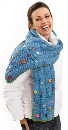 Image of Button Scarf
