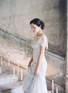 Boho lace gown: http://www.stylemepretty.com/little-black-book-blog/2016/03/21/romantic-havana-wedding-inspiration/ | Photography: Matthew Ree - http://www.matthewree.com/