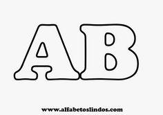ALFABETOS LINDOS: Moldes de letras para murais e painéis de sala de aula em tamanho pequeno ou grande - moldes de numerais