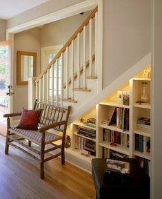 15 Hallway Under Stairs Storage Ideas - Some of these are great decor ideas and the rest are absolutely brilliant storage ideas. Utilizing a useless space is always a plus! #storage #smallspacestorage #uniquedecor