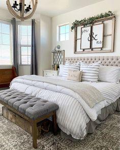 15 Best Modern Farmhouse Bedroom Decor Ideas Farmhouse Style Bedrooms, Farmhouse Master Bedroom, Master Bedroom Design, Home Decor Bedroom, Bedroom Ideas, Master Bedrooms, Master Bedroom Color Ideas, Budget Bedroom, Master Room