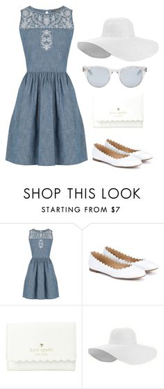 """Denim Days"" by melaniecobb ❤ liked on Polyvore featuring Oasis, Chloé, Kate Spade and Sun Buddies"