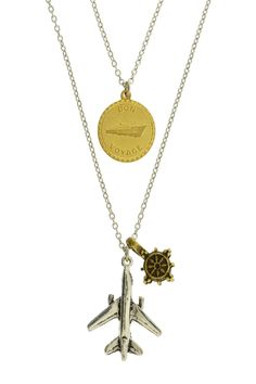 LEILA  Two Tier Traveler Necklace