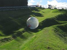 Zorbing in Rotorua, New Zealand... This looks crazy.
