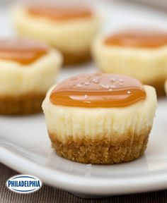Make it miniature with delicious mini desserts recipes from My Food and Family! These mini desserts recipes may be small in size but they're big in flavor. Mini Desserts, Mini Dessert Recipes, Mini Cheesecake Recipes, Salted Caramel Cheesecake, Dessert For Two, Bite Size Desserts, Cheesecake Cupcakes, Easy Desserts, Delicious Desserts