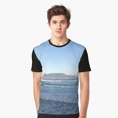 'Table Mountain, Cape Town, Kaapstad' Graphic T-Shirt by MyGrandpa T Shirt Art, My T Shirt, Shirt Dress, Blue Ombre, Pink Blue, Blue Green, Blue Moon, Female Models, Chiffon Tops