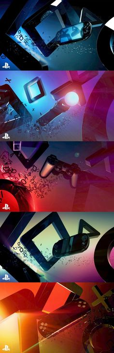 Style frames for the Playstation 2011 E3 Brand Trailer.