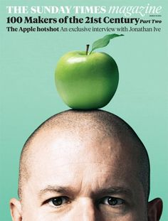 Sunday Times Magazine with Jonathan Ive on the cover / art directed by Matt Curtis