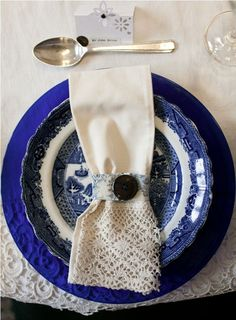 the blue english china, reminds me so much of grandma!
