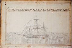 1836 Illustrated Whaling Journal of the Ship Golconda - Rafael Osona Auctions Nantucket, MA