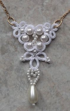 West Pine Creations: Bridal Swirl Necklace