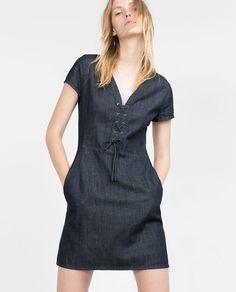 DENIM DRESS-View all-Dresses-WOMAN | ZARA United States