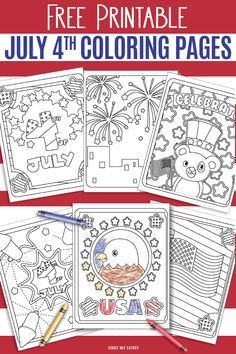 Free Printable July 4th Coloring Pages for Kids
