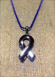 March is Dress in Blue Day for Colon Cancer Awareness. Show your support by wearing blue. This is a custom designed Stainless Steel Ribbon pendant with bright blue ball chain necklace. Arrow Necklace, Pendant Necklace, Colon Cancer, Ball Chain, Cancer Awareness, Custom Design, Ribbon, Stainless Steel, Pendants