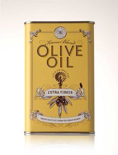 Gorgeous packaging for Prince Albert Olives and Oil by Jack Russell Design. I'm noticing a trend towards archival graphics and imagery — it's funny because I've used them myself, for a recent project. Olive Oil Packaging, Vintage Packaging, Pretty Packaging, Brand Packaging, Packaging Design, Branding Design, Coffee Packaging, Bottle Packaging, Packaging Ideas
