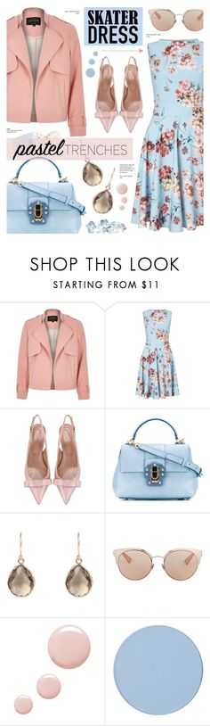"""Floral Skater dress"" by anyasdesigns ❤ liked on Polyvore featuring River Island, Miss Selfridge, RED Valentino, Dolce&Gabbana, Latelita, Marc Jacobs, Christian Dior, Topshop and SkinCare"