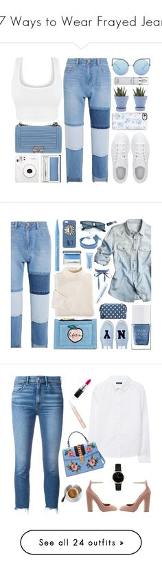 """""""17 Ways to Wear Frayed Jeans"""" by polyvore-editorial ❤ liked on Polyvore featuring waystowear, frayeddenim, Steve J & Yoni P, adidas, Chanel, Matthew Williamson, Casetify, Clinique, Chive and Kenneth Cole"""