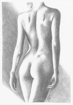 Items similar to graphite pencil drawing, art print, nude woman ...