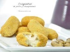 Croquetas de pollo y champiñones - http://www.thermorecetas.com/2014/05/16/croquetas-de-pollo-y-champinones/
