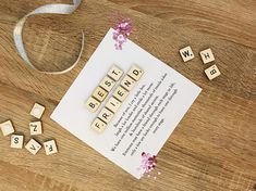 Beautiful Scrabble name box frame quotes. A perfect gift for somebody you love. • Women: Filled with rose gold heart confetti • Men: Filled with silver star confetti