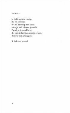 Een prachtig gedicht van Toon Hermans