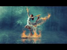 Burning dance fire effect manipulation | photoshop tutorial - YouTube