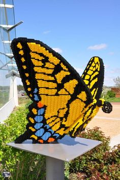 Large Lego Animal Sculptures in Iowa