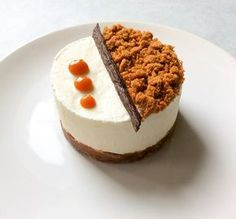 Cheesecake aux speculoos vanille & caramel beurre salé