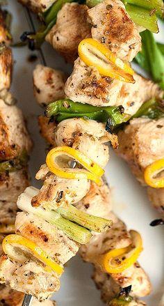Grilled Lemon Chicken Skewers