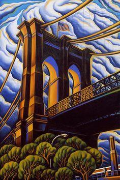 Ann Bascove | BRIDGES & CITYSCAPES | Brooklyn Bridge IV 2007