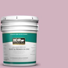 BEHR Premium Plus 5-gal. #S120-3 Candlelight Dinner Semi-Gloss Enamel Interior Paint