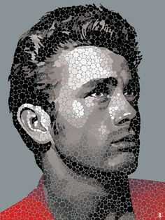 James Dean - The Rebel by Paul Normansell, Edition on Aluminium priced £595