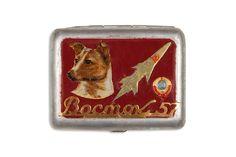 Magnum Photos: MARTIN PARR COLLECTION. Soviet Space dog ephemera. Laika. Cigarette case. 2014.